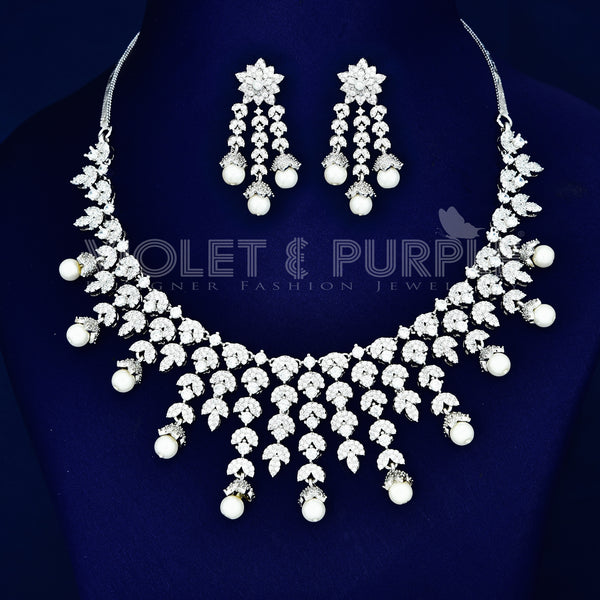 CZ Necklace Set 77291