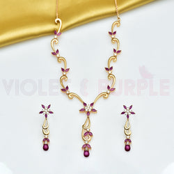 CZ Necklace Set 77625