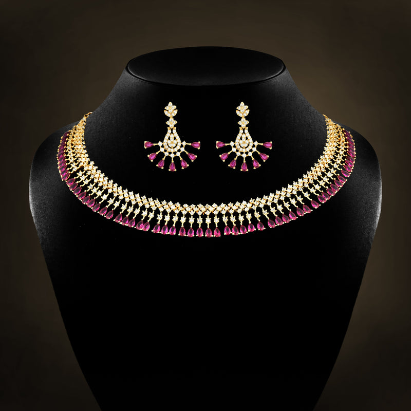 CZ Necklace Set 79500