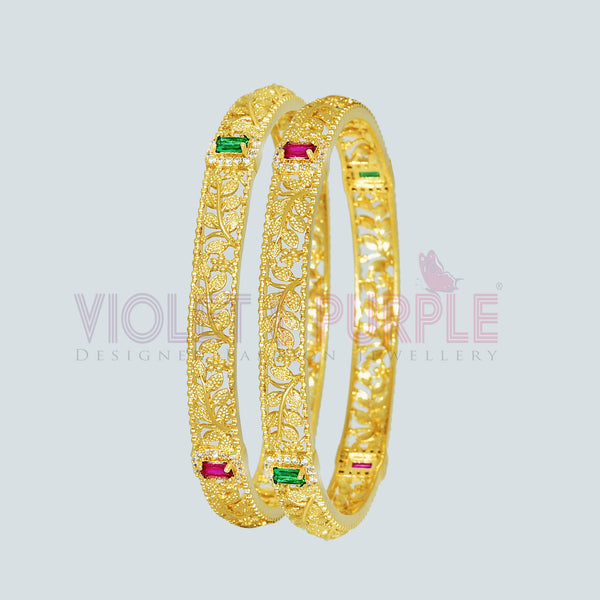 CZ Bangle Set ZBGL10224-GLD REW