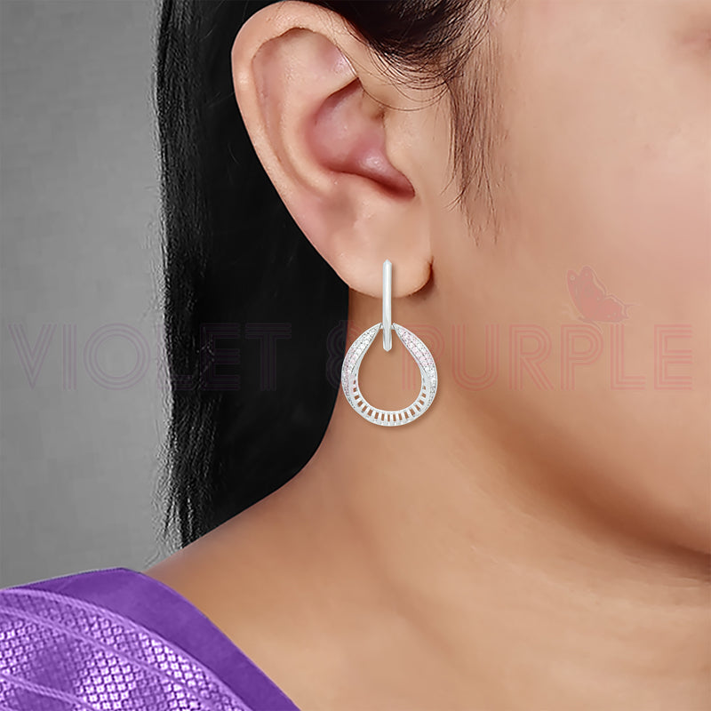 CZ Chandbali Earrings 80510