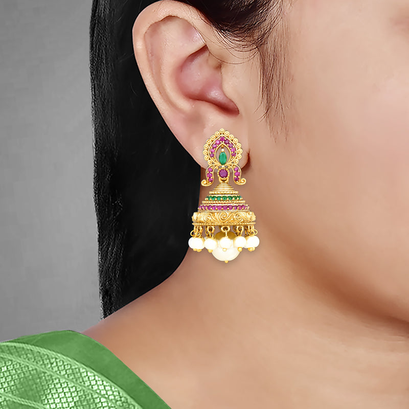 Antique Jhumka Earrings 80651