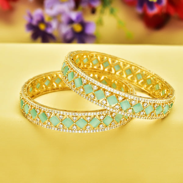 CZ Bangle Set ZBGL10291-GL