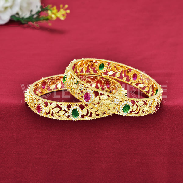 CZ Bangle Set ZBGL10327-GLD RPW