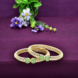 CZ Kada Bangle Set ZBGL10155-G