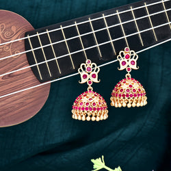 CZ Jhumka Earrings 85277