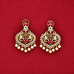 CZ Chandbali Earrings 85579