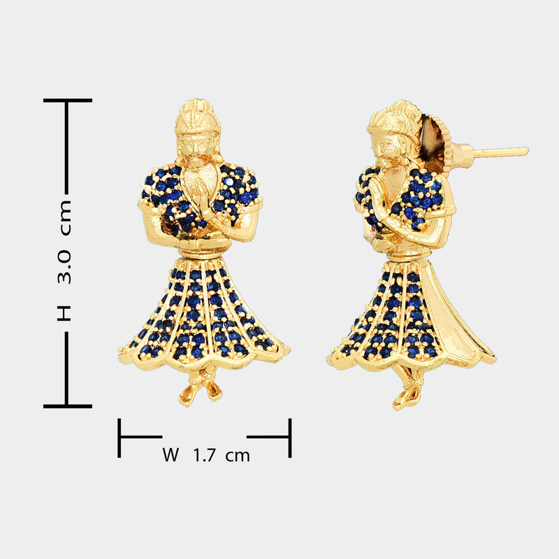 CZ Jhumka Earrings 85640