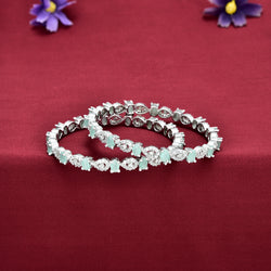 CZ Bangle Set ZBGL10395-MGW