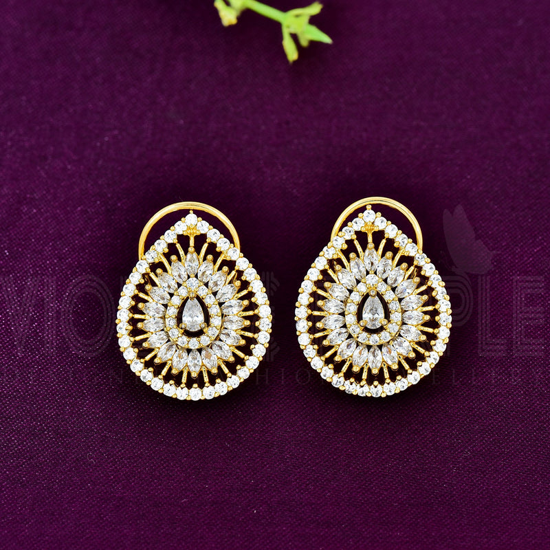 CZ Stud Earrings 86063