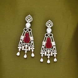 CZ Earrings 86095