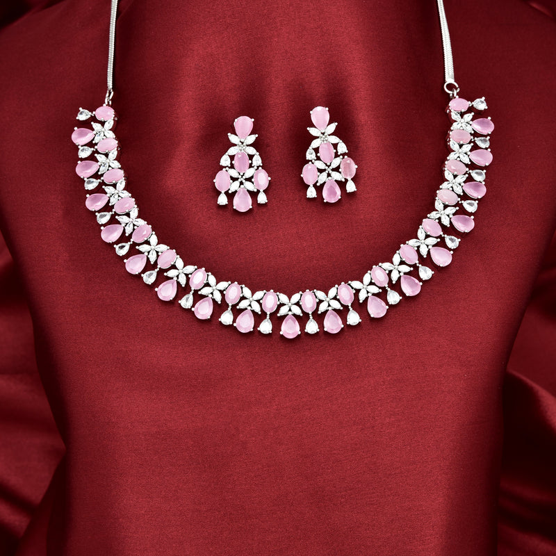 CZ Necklace Set 86105