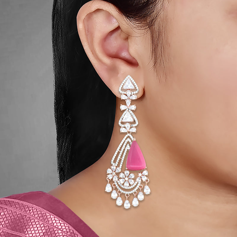 CZ Earrings 86143