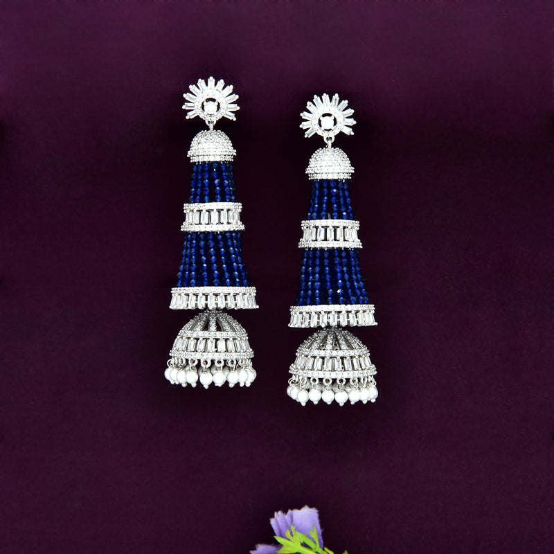 CZ Jhumka Earrings 86439