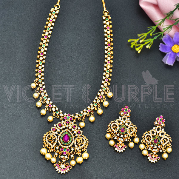 CZ Necklace Set 86995