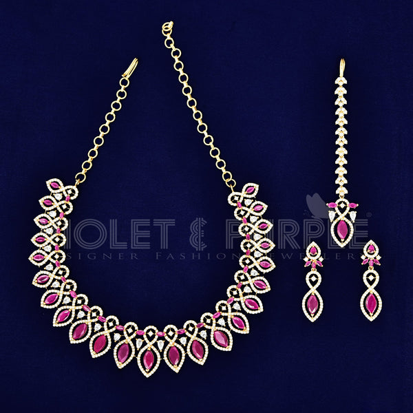 CZ Necklace Set 87136