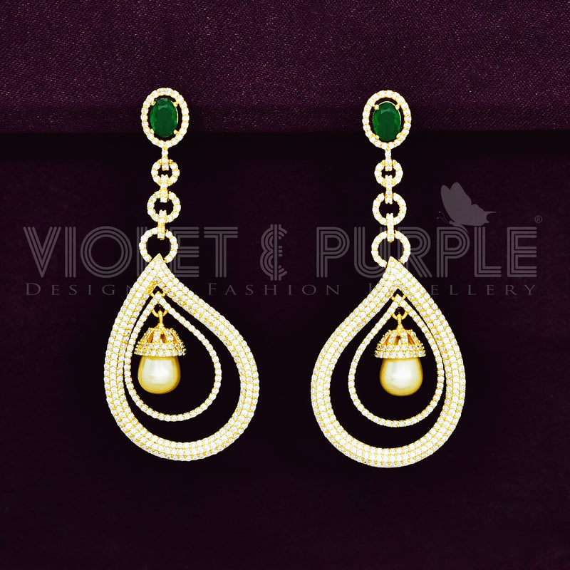 CZ Earrings 87428