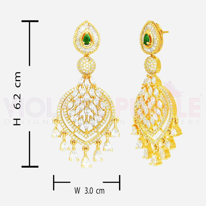 CZ Earrings 87431