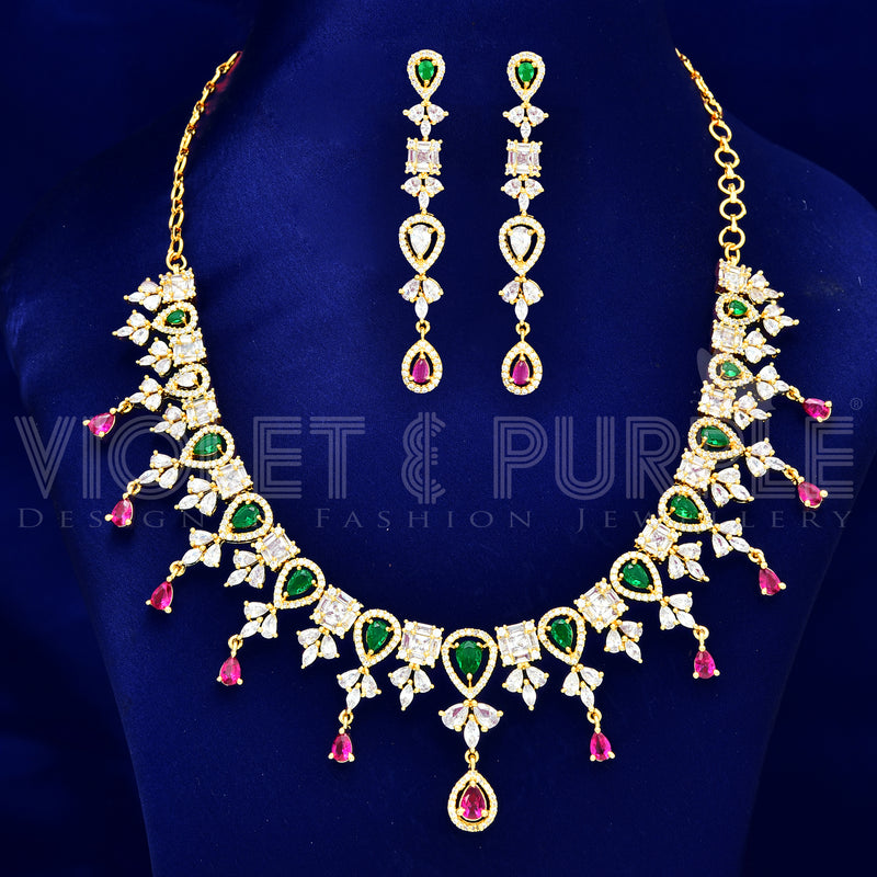 CZ Necklace Set 87562