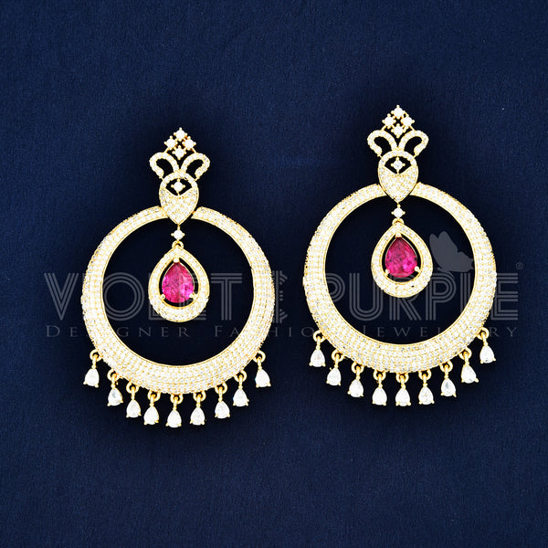 CZ Chandbali Earrings 87565