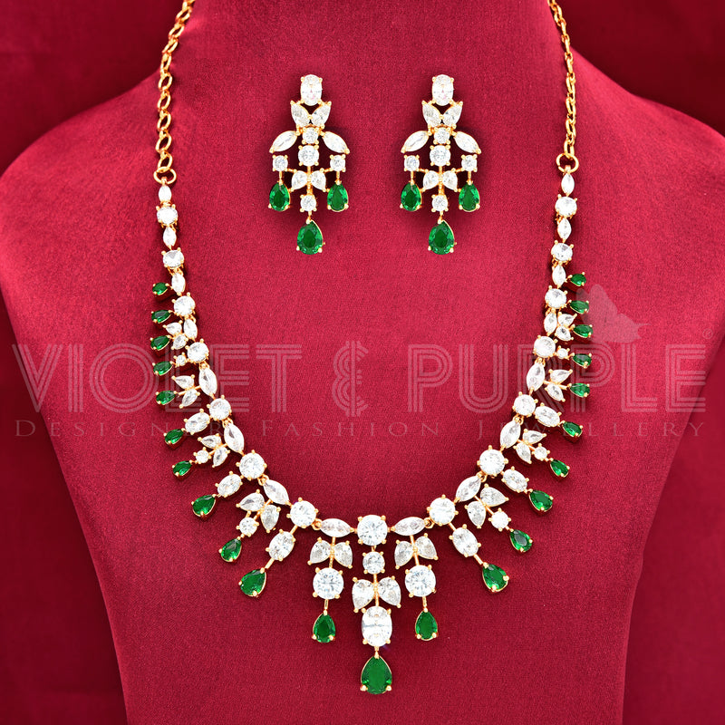 CZ Necklace Set 87906