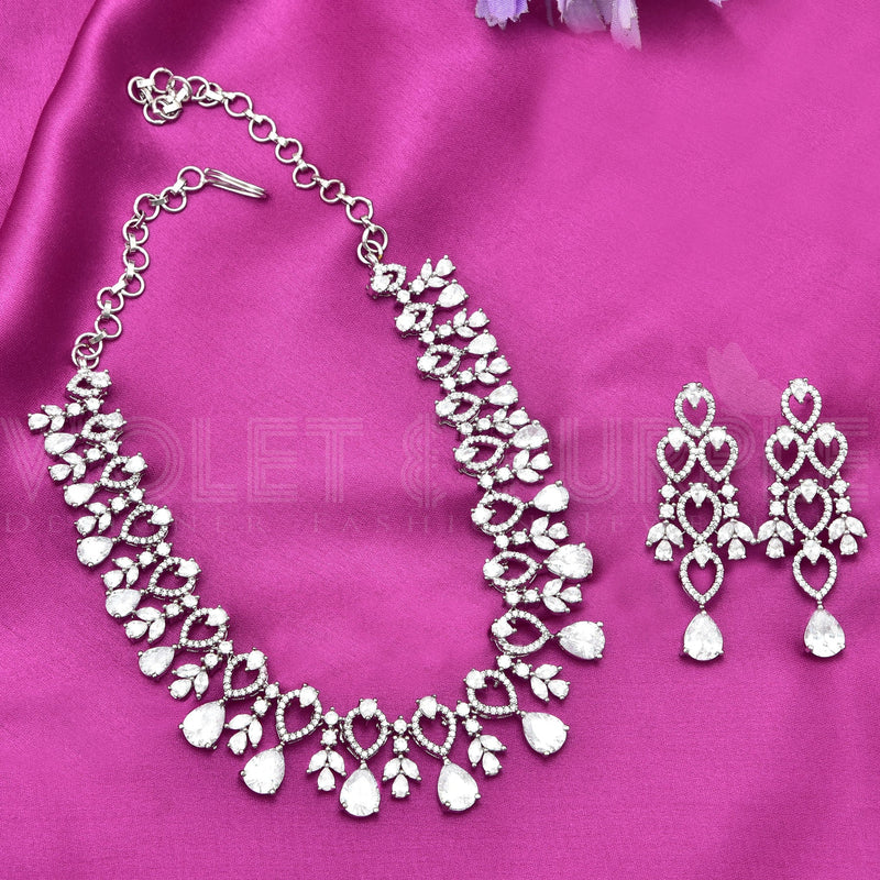 CZ Necklace Set  87913