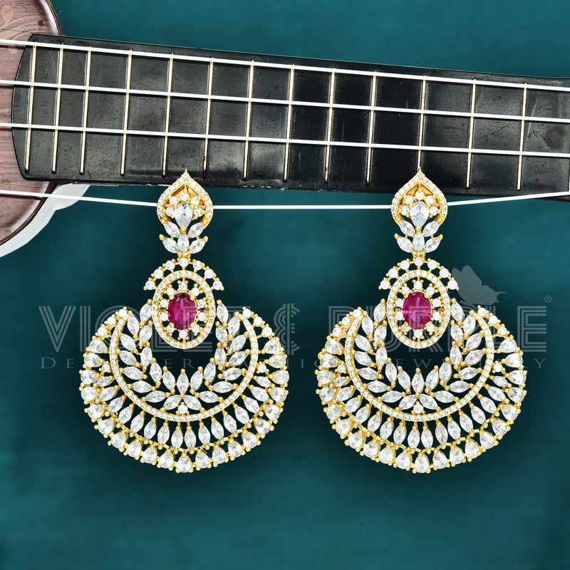 CZ Chandbali Earrings 88111