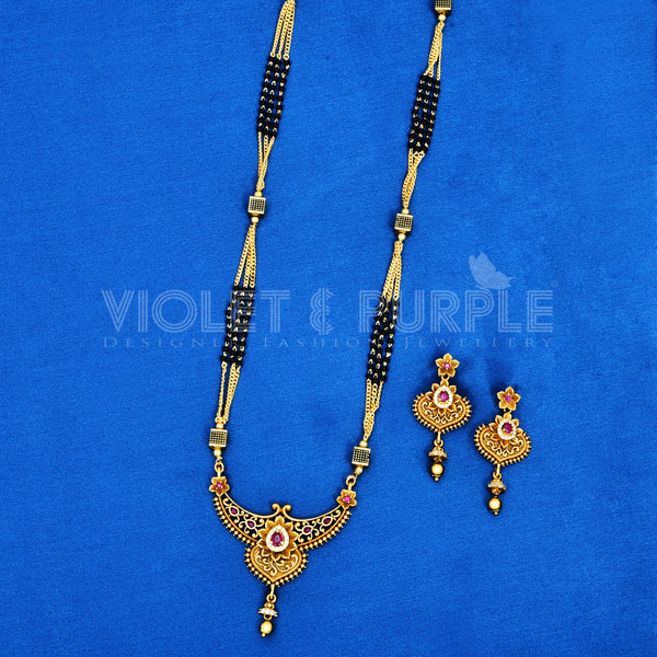 Antique Black Bead Mangalsutra 88452