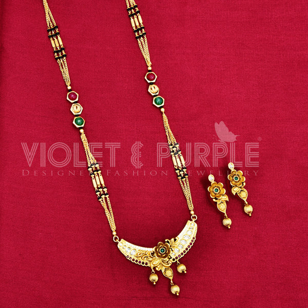 Antique Black Bead Mangalsutra 88454