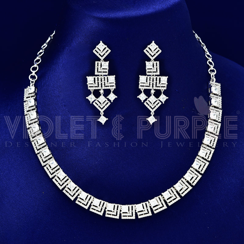 CZ Necklace Set 89176