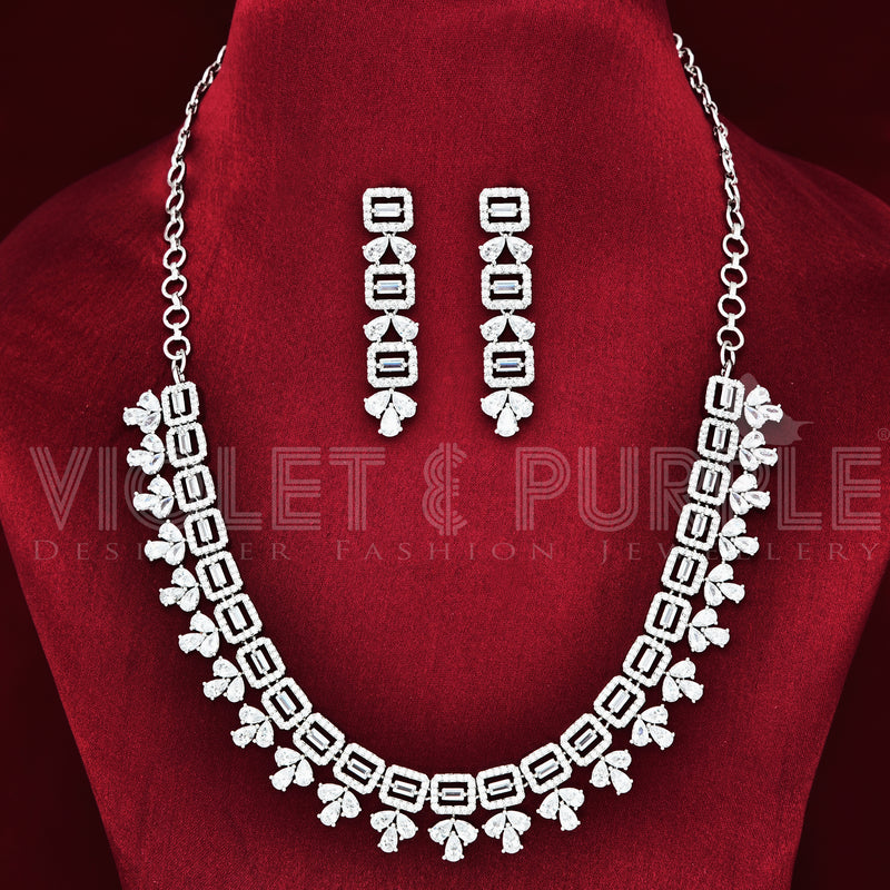 CZ Necklace Set 89179