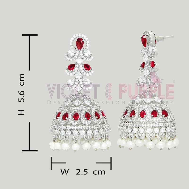 CZ Jhumka Earrings 89258