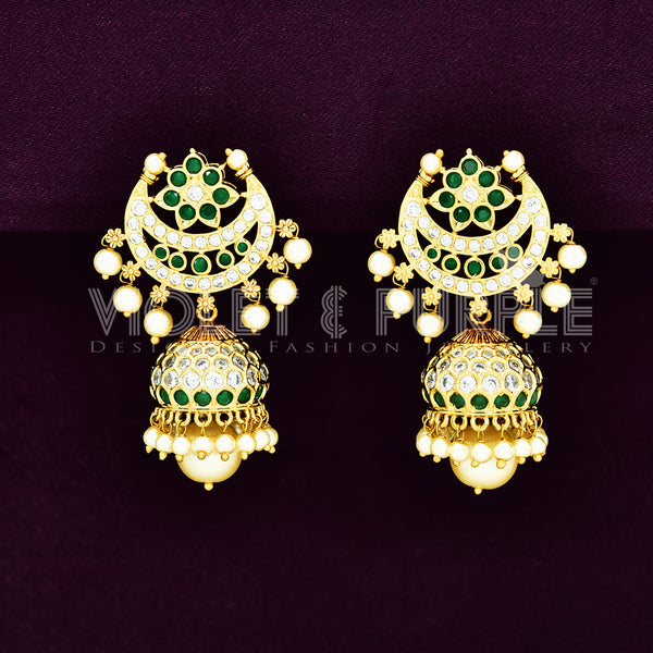 CZ Chandbutta Earrings 89266