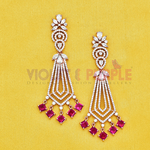 CZ Earrings 89320