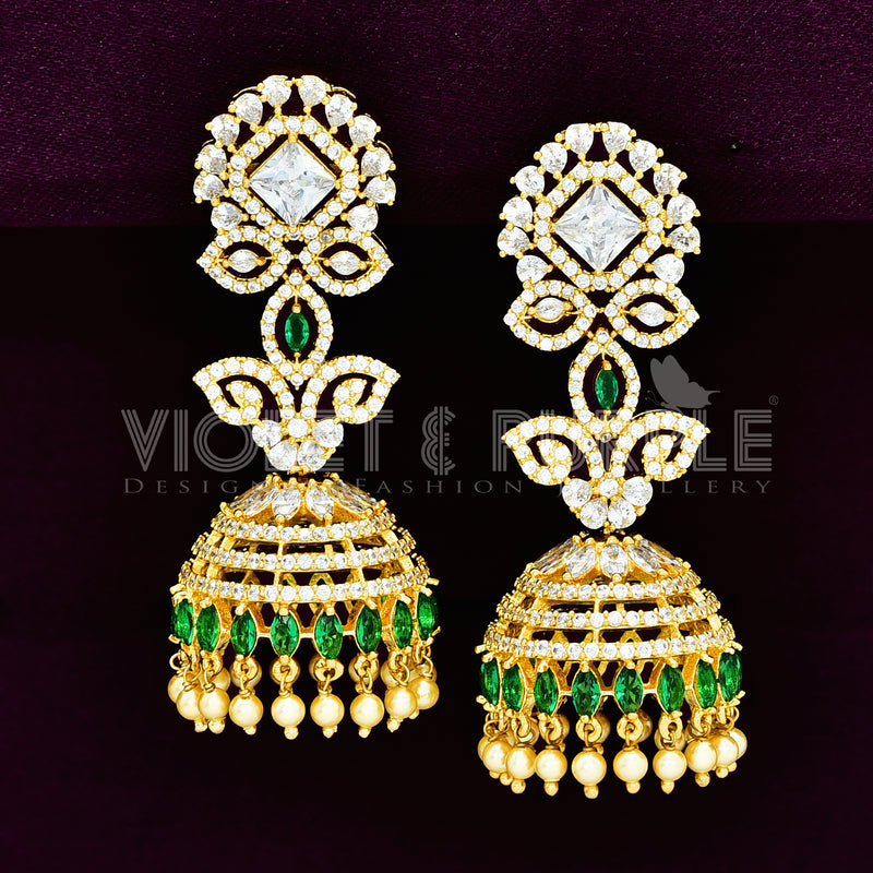 CZ Jhumka Earrings 89503