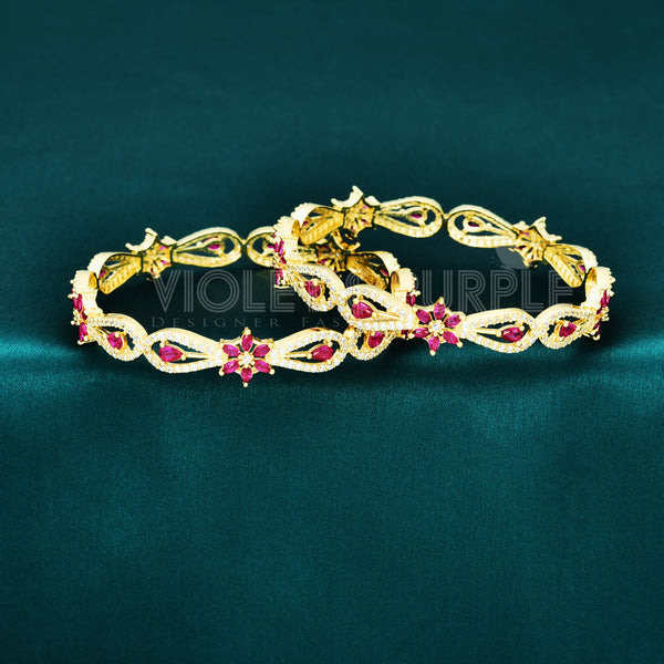 CZ Bangle Set ZBGL10465-GLD RPW