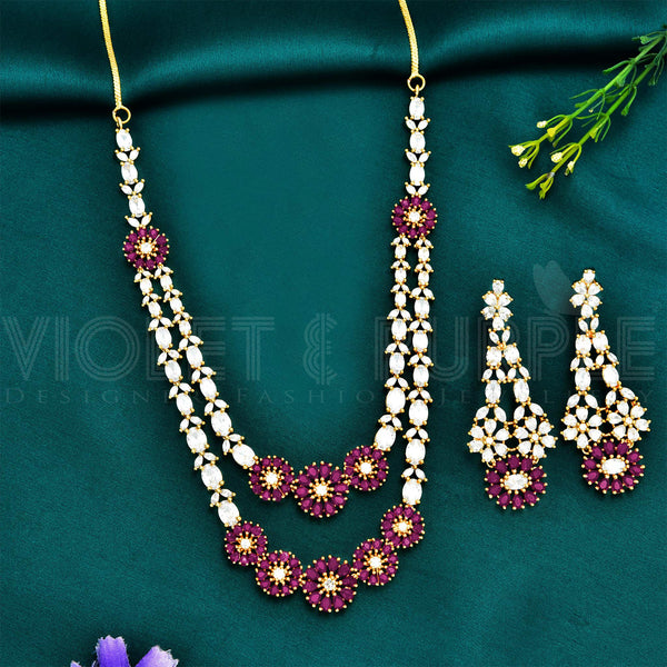 CZ Necklace Set 91633
