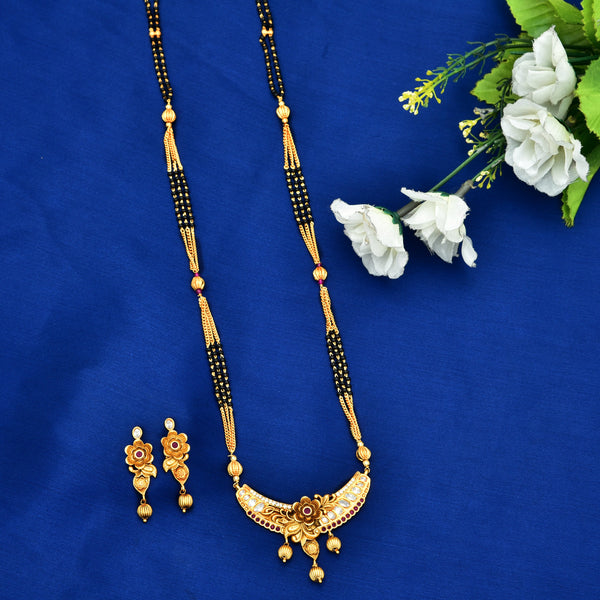 Antique Black Bead Mangalsutra 91720