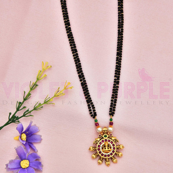 Antique Black Bead Mangalsutra 91725