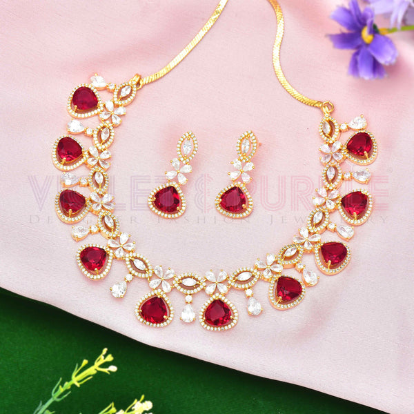 CZ Necklace Set 92065