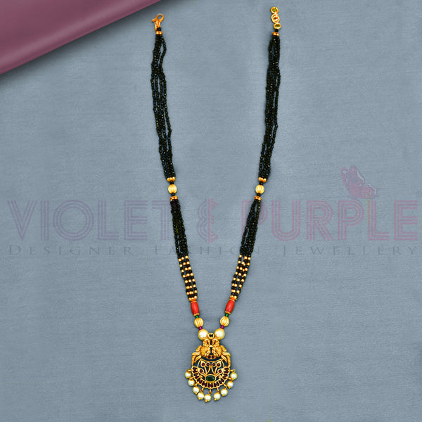 Antique Black Bead Mangalsutra  92341