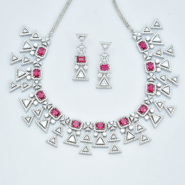 CZ Necklace Set 86159