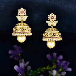 CZ Jhumka Earrings 65121