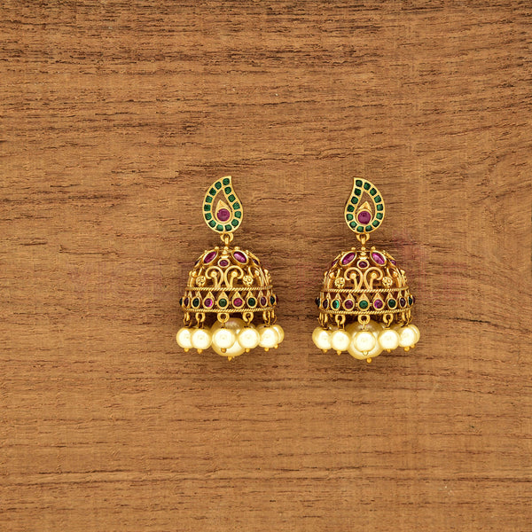 Matt Kempu Jhumka Earrings 78903