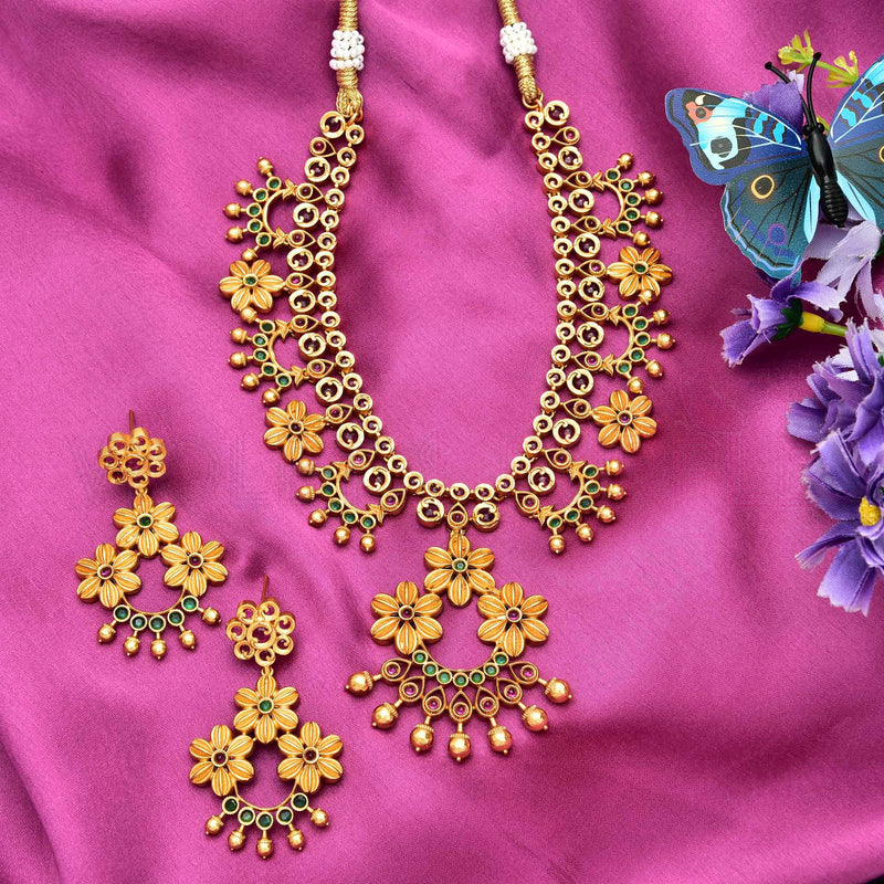 CZ Matt Necklace Set 78331
