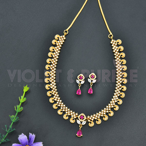 CZ Necklace Set 74296
