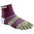 Injinji Trail Midweight Mini-Crew Mulberry - Calza Corta Trail Unisex - Mud and Snow