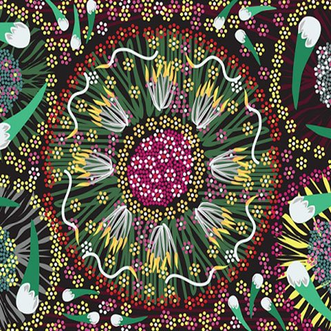 Aboriginal Fabrics designed by indigenous artists