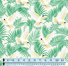 Load image into Gallery viewer, Tropical Cockatoo fabric ~ Cream