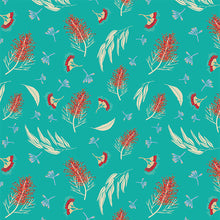 Load image into Gallery viewer, Grevillea & Gumnuts on Aqua